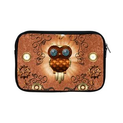 Steampunk, Funny Owl With Clicks And Gears Apple iPad Mini Zipper Cases by FantasyWorld7