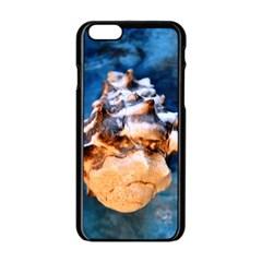 Sea Shell Spiral Apple Iphone 6 Black Enamel Case by timelessartoncanvas
