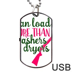 I Can Load More Than Washers And Dryers Dog Tag Usb Flash (two Sides)  by CraftyLittleNodes