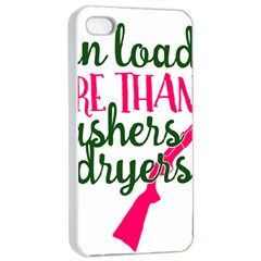 I Can Load More Than Washers And Dryers Apple Iphone 4/4s Seamless Case (white) by CraftyLittleNodes