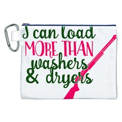 I Can Load More Than Washers And Dryers Canvas Cosmetic Bag (xxl)  by CraftyLittleNodes