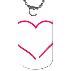 Customizable Shotgun Heart Dog Tag (two Sides) by CraftyLittleNodes