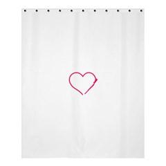 Customizable Shotgun Heart Shower Curtain 60  x 72  (Medium)  by CraftyLittleNodes