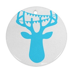 Party Deer With Bunting Ornament (round)  by CraftyLittleNodes
