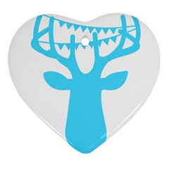 Party Deer With Bunting Heart Ornament (2 Sides) by CraftyLittleNodes