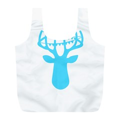 Party Deer With Bunting Full Print Recycle Bags (l)  by CraftyLittleNodes