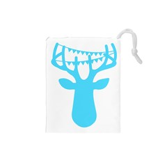 Party Deer With Bunting Drawstring Pouches (small)  by CraftyLittleNodes