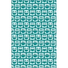 Teal And White Owl Pattern 5 5  X 8 5  Notebooks