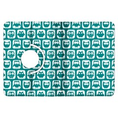 Teal And White Owl Pattern Kindle Fire Hdx Flip 360 Case by creativemom