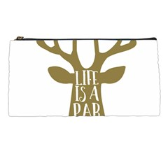 Life Is A Party Buck Deer Pencil Cases