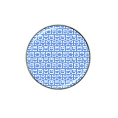 Blue And White Owl Pattern Hat Clip Ball Marker (10 Pack) by creativemom