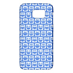 Blue And White Owl Pattern Galaxy S6