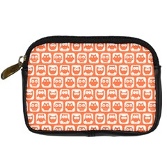 Coral And White Owl Pattern Digital Camera Cases by creativemom