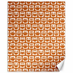 Orange And White Owl Pattern Canvas 16  X 20   by creativemom