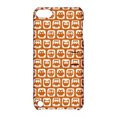 Orange And White Owl Pattern Apple Ipod Touch 5 Hardshell Case With Stand by creativemom