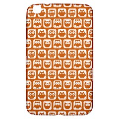 Orange And White Owl Pattern Samsung Galaxy Tab 3 (8 ) T3100 Hardshell Case  by creativemom