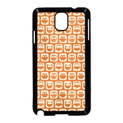 Orange And White Owl Pattern Samsung Galaxy Note 3 Neo Hardshell Case (black) by creativemom