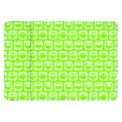 Lime Green And White Owl Pattern Samsung Galaxy Tab 8 9  P7300 Flip Case by creativemom