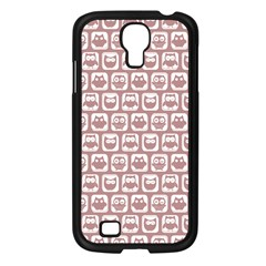 Light Pink And White Owl Pattern Samsung Galaxy S4 I9500/ I9505 Case (black) by creativemom