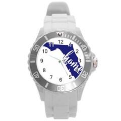 Florida Home  Round Plastic Sport Watch (l) by CraftyLittleNodes