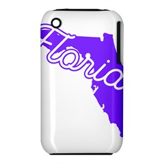 Florida Home State Pride Apple Iphone 3g/3gs Hardshell Case (pc+silicone) by CraftyLittleNodes