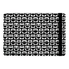 Black And White Owl Pattern Samsung Galaxy Tab Pro 10 1  Flip Case