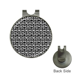 Black And White Owl Pattern Hat Clips With Golf Markers by creativemom