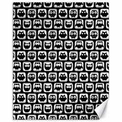 Black And White Owl Pattern Canvas 16  X 20   by creativemom