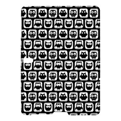 Black And White Owl Pattern Samsung Galaxy Tab S (10 5 ) Hardshell Case  by creativemom