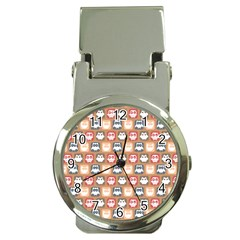Colorful Whimsical Owl Pattern Money Clip Watches by creativemom