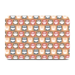 Colorful Whimsical Owl Pattern Plate Mats by creativemom