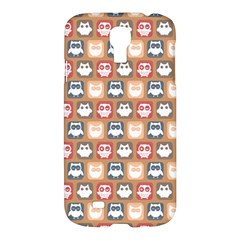 Colorful Whimsical Owl Pattern Samsung Galaxy S4 I9500/i9505 Hardshell Case by creativemom
