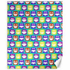 Colorful Whimsical Owl Pattern Canvas 16  X 20   by creativemom