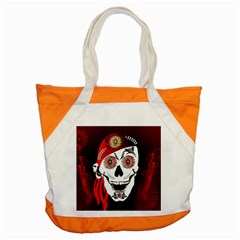 Funny Happy Skull Accent Tote Bag  by FantasyWorld7