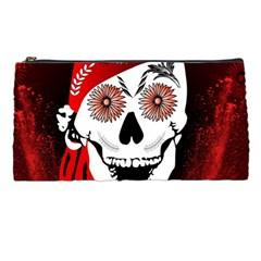 Funny Happy Skull Pencil Cases by FantasyWorld7
