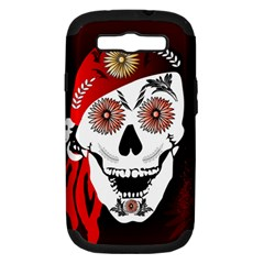 Funny Happy Skull Samsung Galaxy S Iii Hardshell Case (pc+silicone) by FantasyWorld7