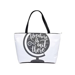 Adventure Is Out There Shoulder Handbags by CraftyLittleNodes