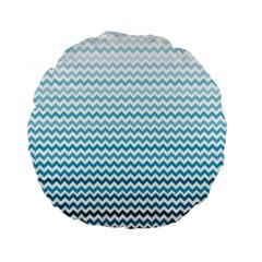 Perfectchevron Standard 15  Premium Flano Round Cushions by CraftyLittleNodes