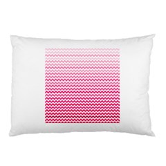 Pink Gradient Chevron Pillow Cases (two Sides) by CraftyLittleNodes