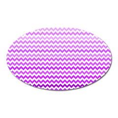 Purple Gradient Chevron Oval Magnet by CraftyLittleNodes