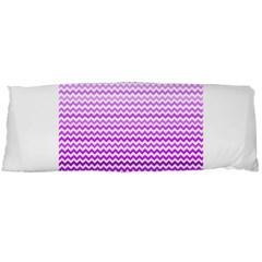 Purple Gradient Chevron Body Pillow Cases (dakimakura)  by CraftyLittleNodes