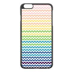 Pastel Gradient Rainbow Chevron Apple Iphone 6 Plus/6s Plus Black Enamel Case by CraftyLittleNodes