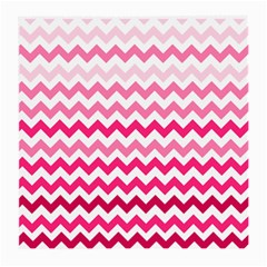 Pink Gradient Chevron Large Medium Glasses Cloth by CraftyLittleNodes