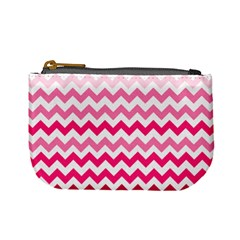 Pink Gradient Chevron Large Mini Coin Purses by CraftyLittleNodes