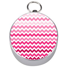 Pink Gradient Chevron Large Silver Compasses by CraftyLittleNodes