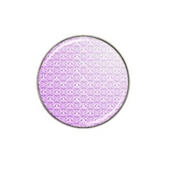 Purple Damask Gradient Hat Clip Ball Marker (10 Pack) by CraftyLittleNodes