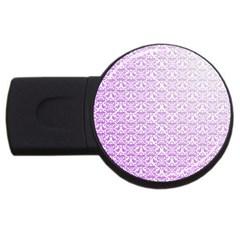 Purple Damask Gradient Usb Flash Drive Round (4 Gb)  by CraftyLittleNodes