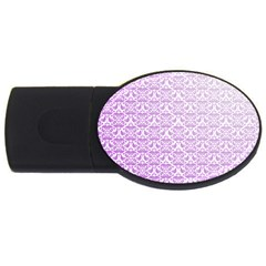 Purple Damask Gradient Usb Flash Drive Oval (4 Gb)  by CraftyLittleNodes