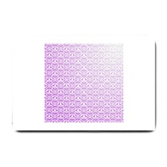 Purple Damask Gradient Small Doormat  by CraftyLittleNodes