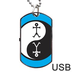 Yin And Yang Icon  Dog Tag USB Flash (One Side) by thisisnotme